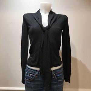 Zara dark grey Sweater with tie